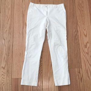 Michael Kors White Cropped Sateen Pants size 6